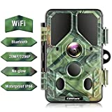Campark WLAN Bluetooth Wildkamera 20MP 1296P, WiFi...