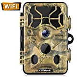 Campark WLAN Wildkamera 20MP 1296P, WiFi mit...