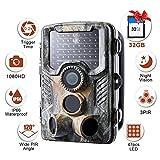 Crenova 20 MP Wildkamera mit 32 GB SD Card 47pcs...