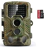 COOLIFE Wildkamera Fotofalle 16MP 1080P HD...