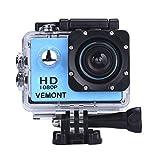 VEMONT 1080p 12MP Action Kamera Full HD 2,0 Zoll...