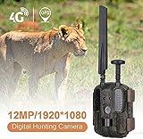 4G GPS Wildkamera Fotofalle 12MP 1080P mit Handy...