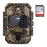 COOLIFE Wildkamera 4K 32MP Ultra-HD Infrarot...